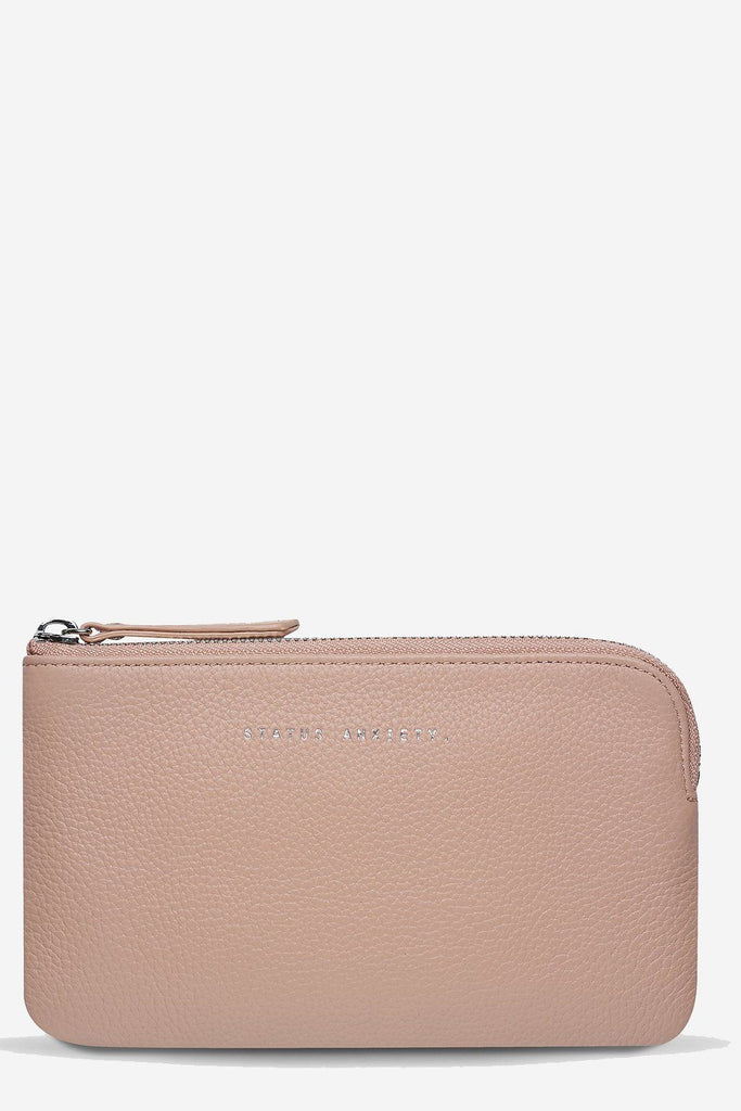 STATUS ANXIETY Smoke And Mirrors Pouch Dusty Pink Front