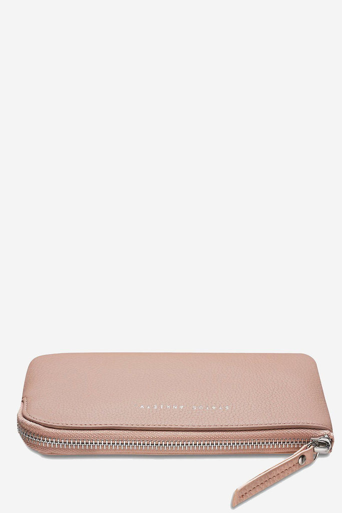 STATUS ANXIETY Smoke And Mirrors Pouch Dusty Pink Flat