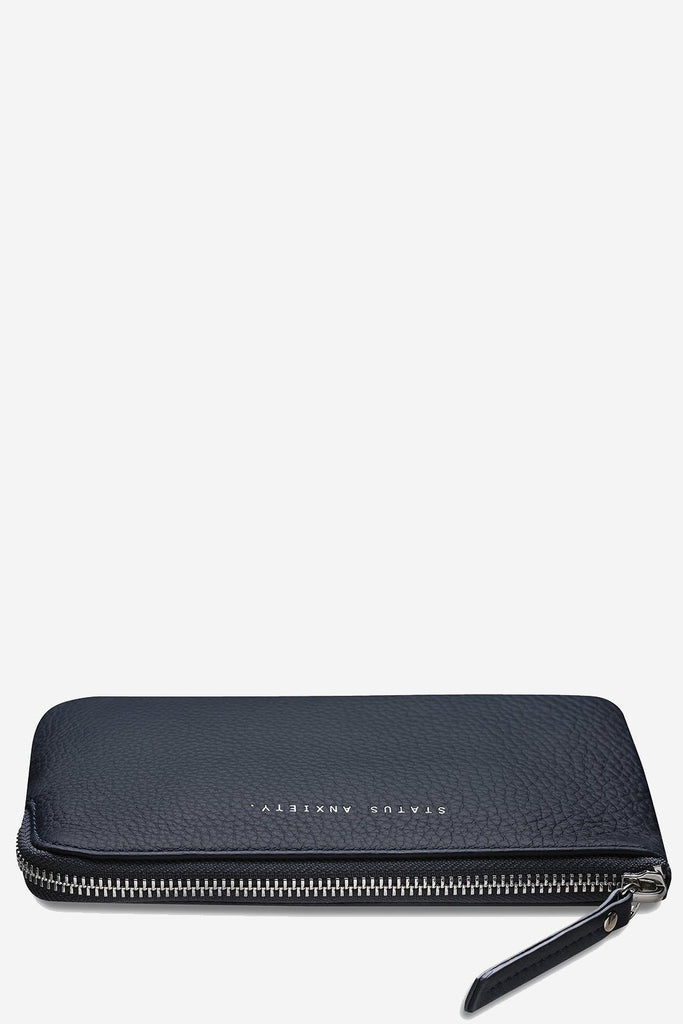 STATUS ANXIETY Smoke And Mirrors Pouch Navy Blue Flat