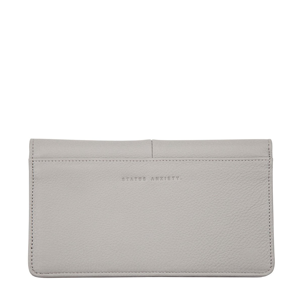 STATUS ANXIETY Triple Threat Wallet Arctic Grey Back