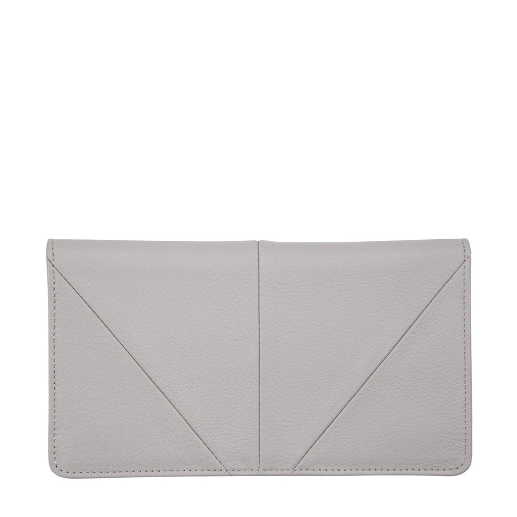 STATUS ANXIETY Triple Threat Wallet Arctic Grey Front
