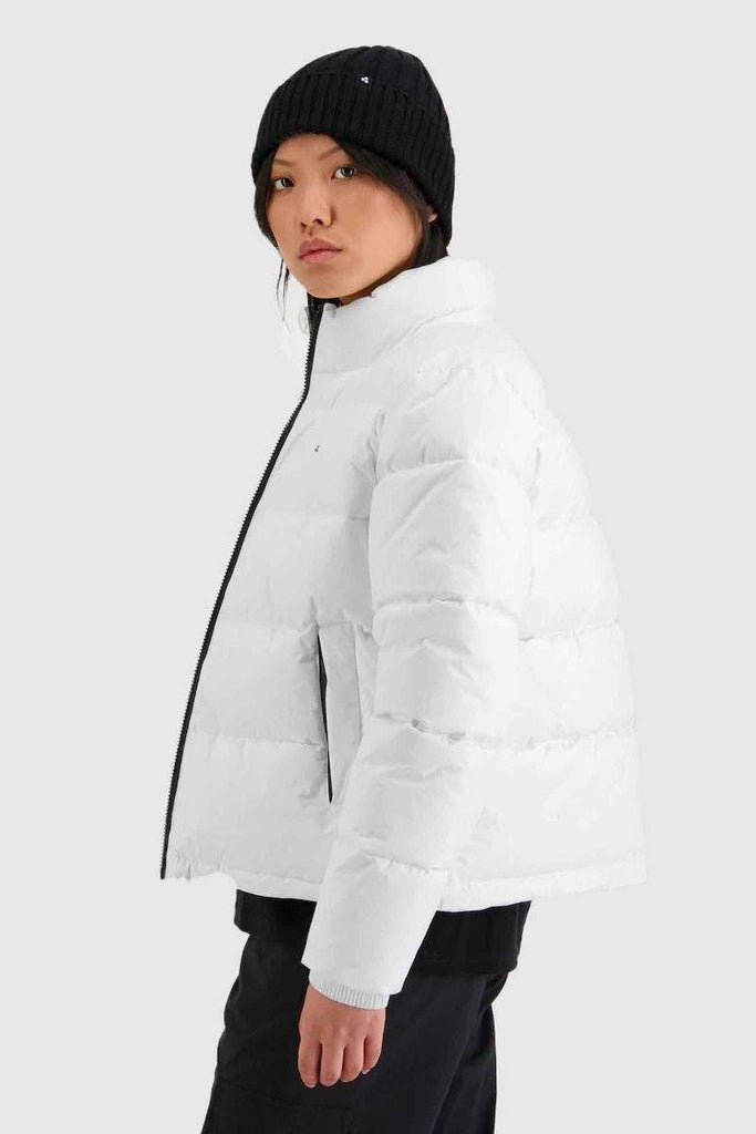HUFFER Wms Track Puffer Jacket White side