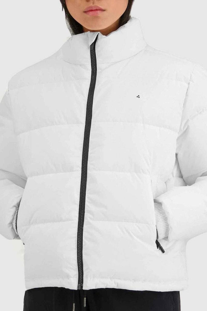 HUFFER Wms Track Puffer Jacket White Close Up