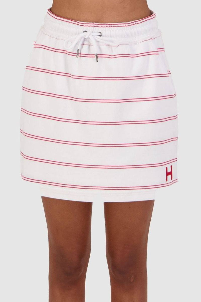 HUFFER Daily Breezy Skirt White Red Front