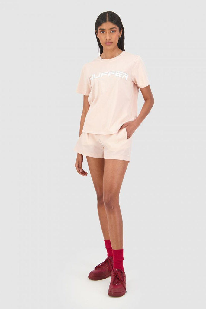 HUFFER Honors Stella Tee Gum Pink Front Full