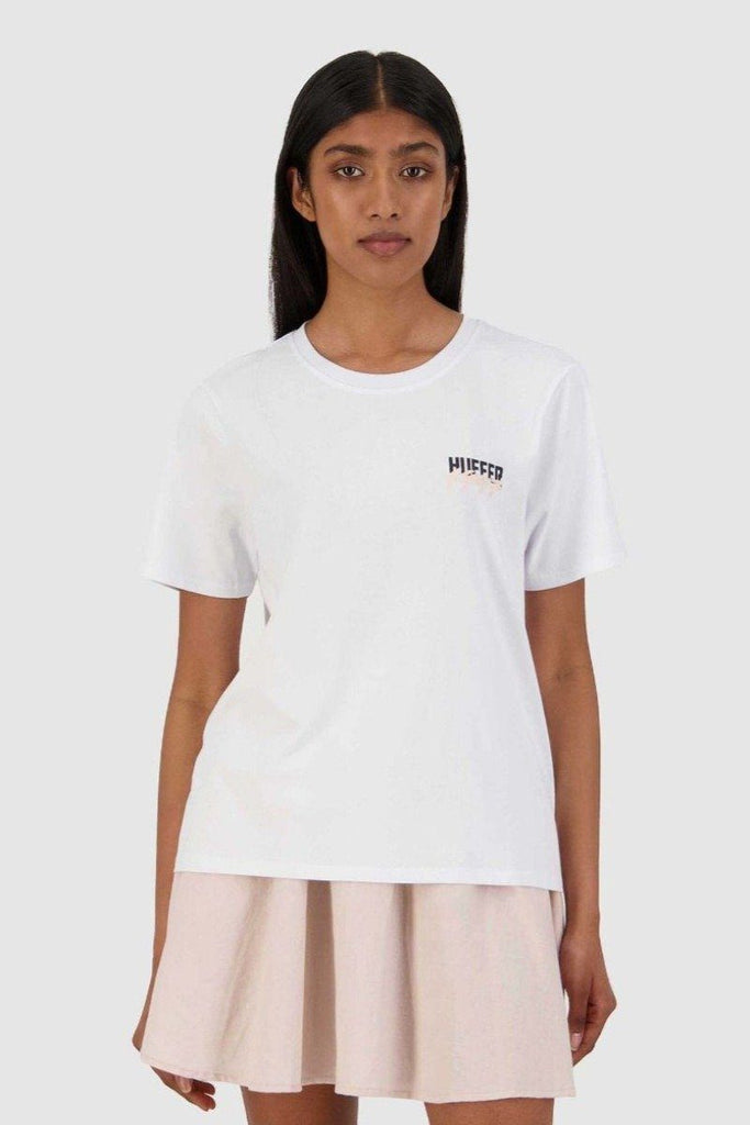 HUFFER Build Up Stella Tee White Front
