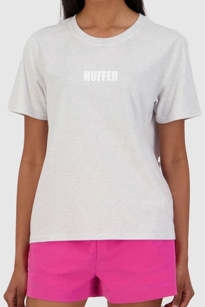 HUFFER Centric Stella Tee Silvermarle Close Up
