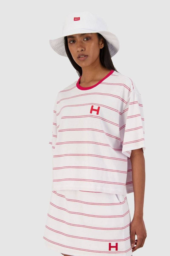 HUFFER Daily Chloe Tee White Red Front