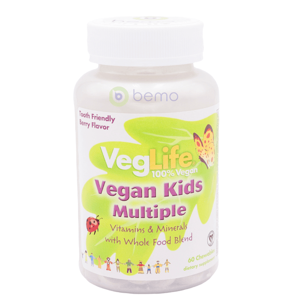 VegLife, Vegan Kids Multi-Vitamin, Berry, 60 Chews (5378981331108)
