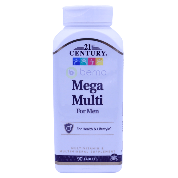 21st Century, Mega Multi, For Men, Multivitamin & Multimineral, 90 Tablets - bemo (4425923592332)