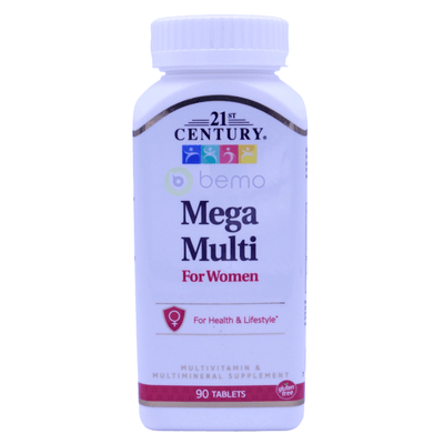 21st Century, Mega Multi, For Women, Multivitamin & Multimineral, 90 Tablets - bemo (4425926312076)