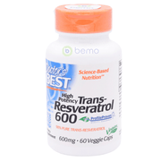 Doctor's Best, High Potency Trans-Resveratrol, 600mg, 60 Veg Caps (5378774565028)