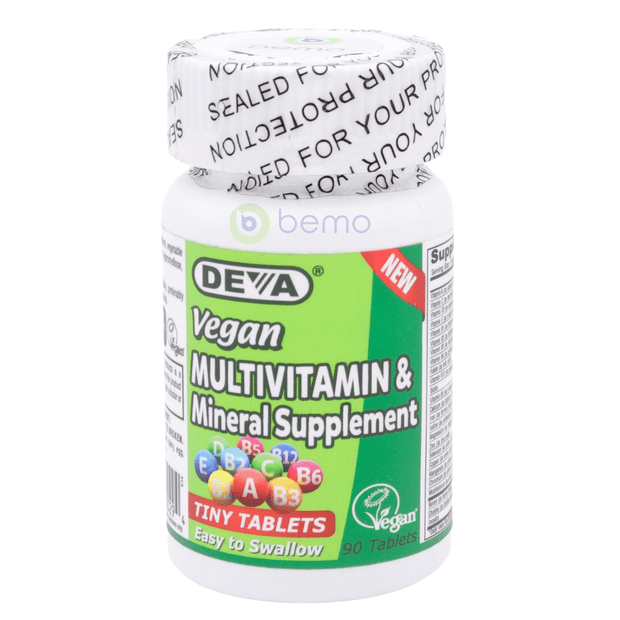 Deva Nutrition, Vegan Multivitamin + Mineral, Tiny Tablets, 90 Tablets (5378990997668)
