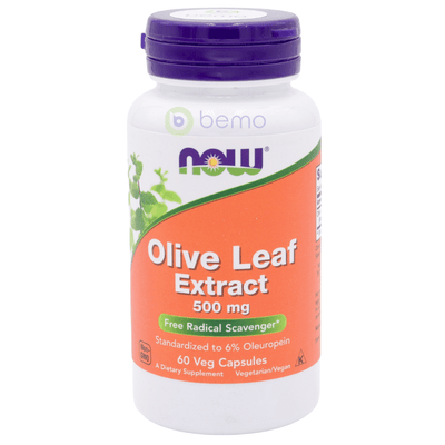 Now Foods, Olive Leaf Extract, 500mg, 60 VegCaps (5354098983076)