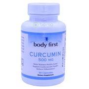 Body First, Curcumin, 500mg, 60 caps - bemo (4418545483916)