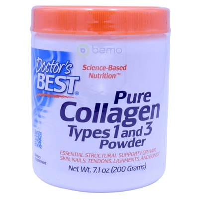 Doctor's Best, Collagen, Types 1 & 3 Powder, 200g - bemo (4418357395596)
