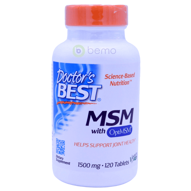Doctor's Best, MSM with OptiMSM, 1500 mg, 120 Tablets - bemo (4425915465868)