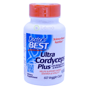 Doctor's Best, Ultra Cordyceps Plus, 60 Veggie Caps - bemo (4418524709004)