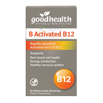 Good Health, B Activated B12, 60 Orally Dissolving Tablets (5508829773988)