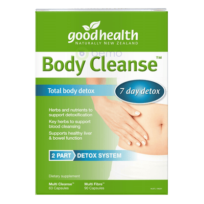 Good Health, Body Cleanse Total Detox Pack, Cleanse 63 caps /  Fibre 90 caps (5518380335268)