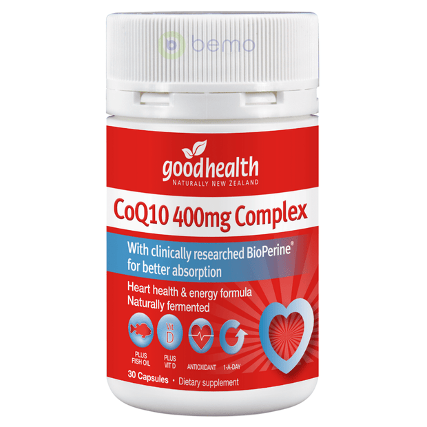 Good Health, CoQ10 400mg Complex, 30 caps (5511263027364)