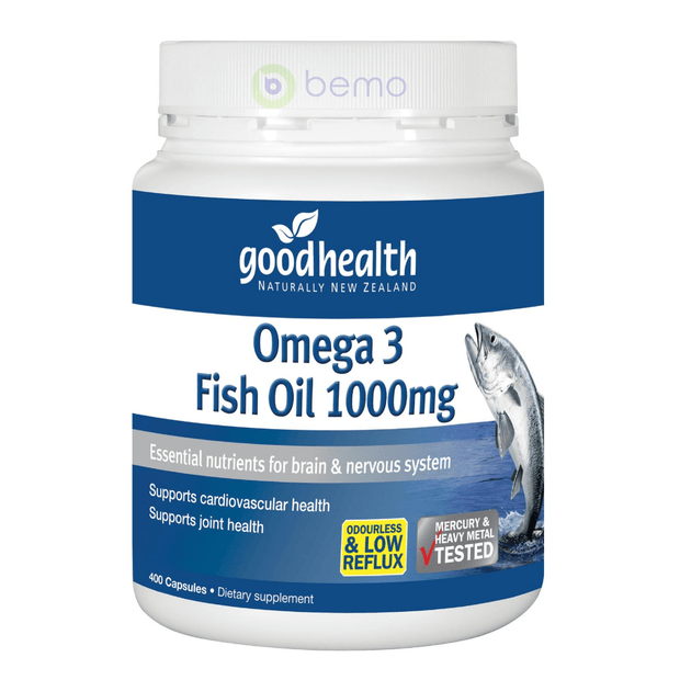 Good Health, Omega 3 Fish Oil, 400 caps (5531421147300)