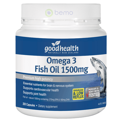 Good Health, Omega 3 Fish Oil 1500mg, 200 caps (5531421311140)