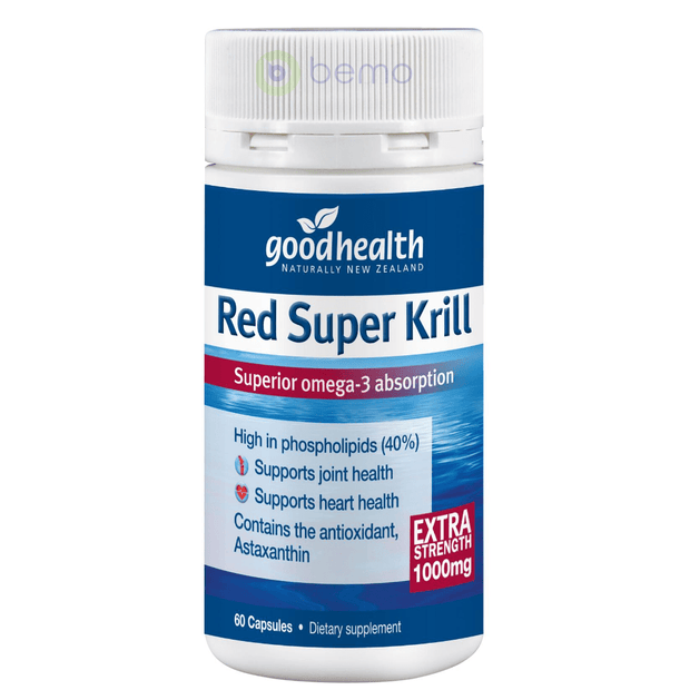 Good Health, Red Super Krill 1000mg, 60 caps (5531422851236)