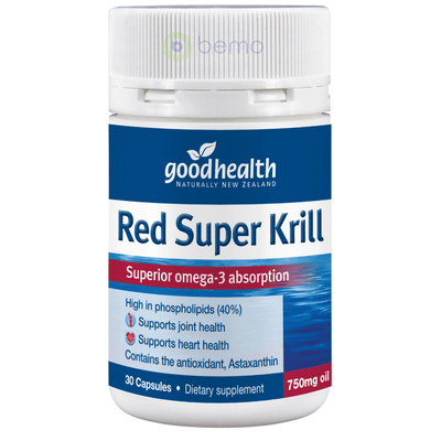 Good Health, Red Super Krill 750mg, 30 caps (5531422982308)