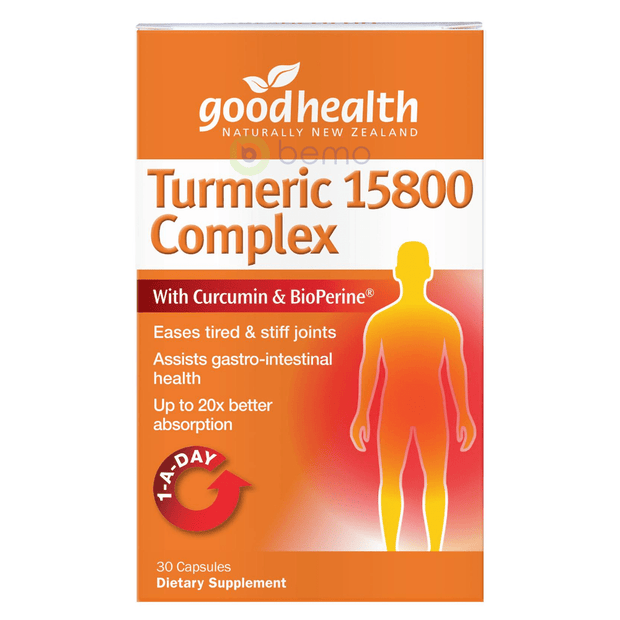 Good Health, Turmeric 15800 Complex, 30 caps (5518381351076)