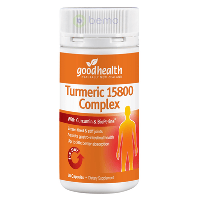 Good Health, Turmeric 15800 Complex, 60 caps (5518381383844)