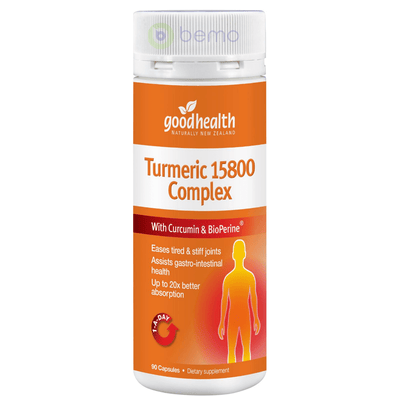 Good Health, Turmeric 15800 Complex, 90 caps (5531424293028)