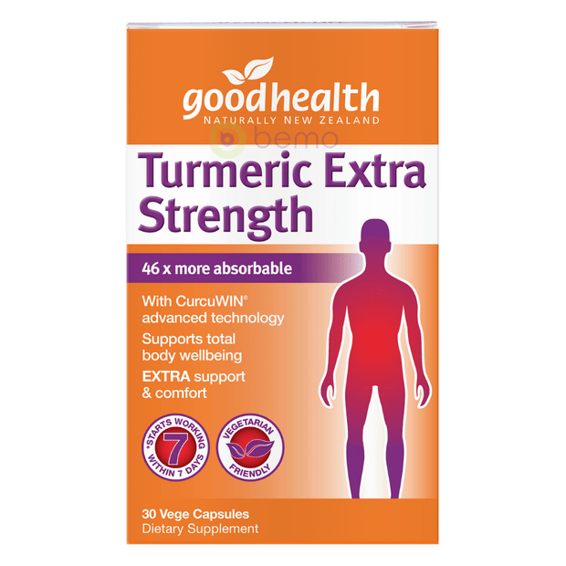 Good Health, Turmeric Extra Strength, 30 caps (5518381416612)