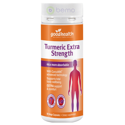 Good Health, Turmeric Extra Strength, 90 caps (5531424391332)