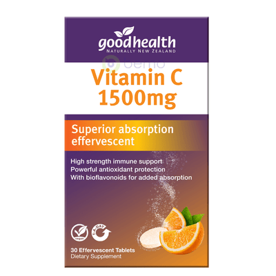 Good Health, Vitamin C 1500mg, 30 Tabs (5531425472676)