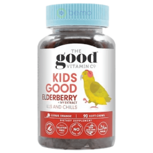 Good Vitamin Co, Kids Elderberry + Ivy Extract, 90 Gummies (5949585359012)