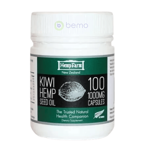 Hemp Farm, Kiwi Hemp Seed Oil, 1000mg, 100 Capsules (5860746297508)
