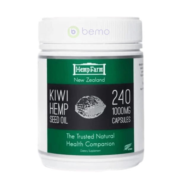 Hemp Farm, Kiwi Hemp Seed Oil, 1000mg, 240 Capsules (5864165146788)