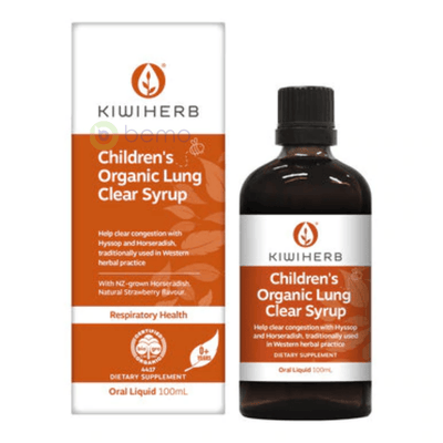 Kiwiherb, Children's Organic Lung Clear Syrup, 100ml (6543783002276)