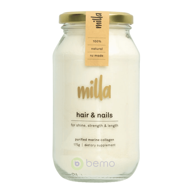 Milla Collagen, Hair & Nails Formula Marine Collagen, 175g (6566975176868)