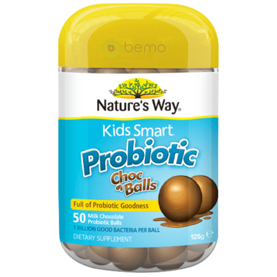 Nature's Way Kids Smart Probiotic Choc Balls 50s (6023970422948)