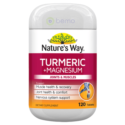 Nature's Way Turmeric + Magnesium 120s (6023970947236)