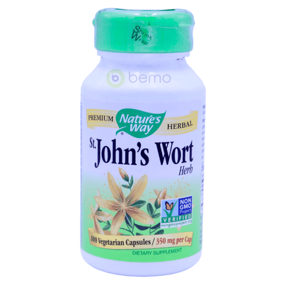 Nature's Way, St. John's Wort Herb, 350mg, 100 Vegetarian Capsules - bemo (4428619088012)
