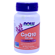 Now Foods, CoQ10, With Hawthorn Berry, 100 mg, 30 Veg Capsules - bemo (4418505441420)