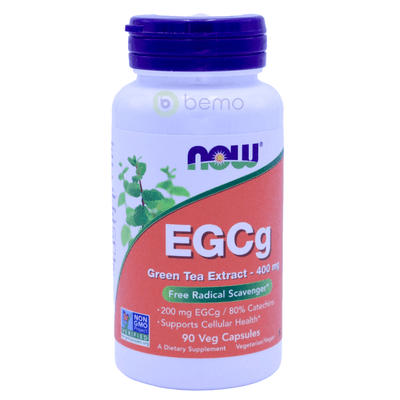 Now Foods, EGCg, Green Tea Extract, 400 mg, 90 Veg Capsules - bemo (4422473416844)