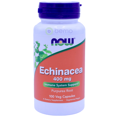Now Foods, Echinacea, 400 mg, 100 Veg Capsules - bemo (4420000252044)
