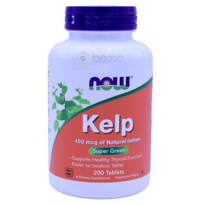 Now Foods, Kelp, 150 mcg, 200 Tablets - bemo (4422659342476)