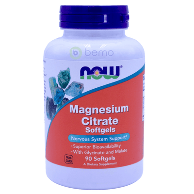 Now Foods, Magnesium Citrate, 90 Softgels - bemo