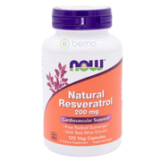 Now Foods, Natural Resveratrol, 200mg, 120 Veg Capsules (5378733473956)