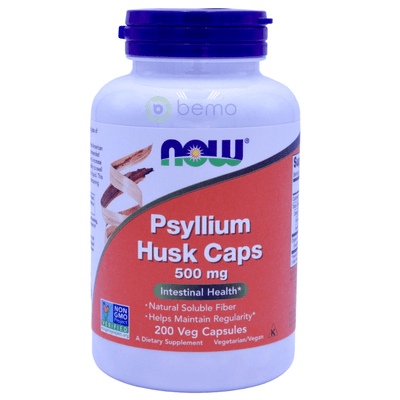 Now Foods, Psyllium Husk Caps, 500mg, 200 Capsules - bemo (4428591759500)